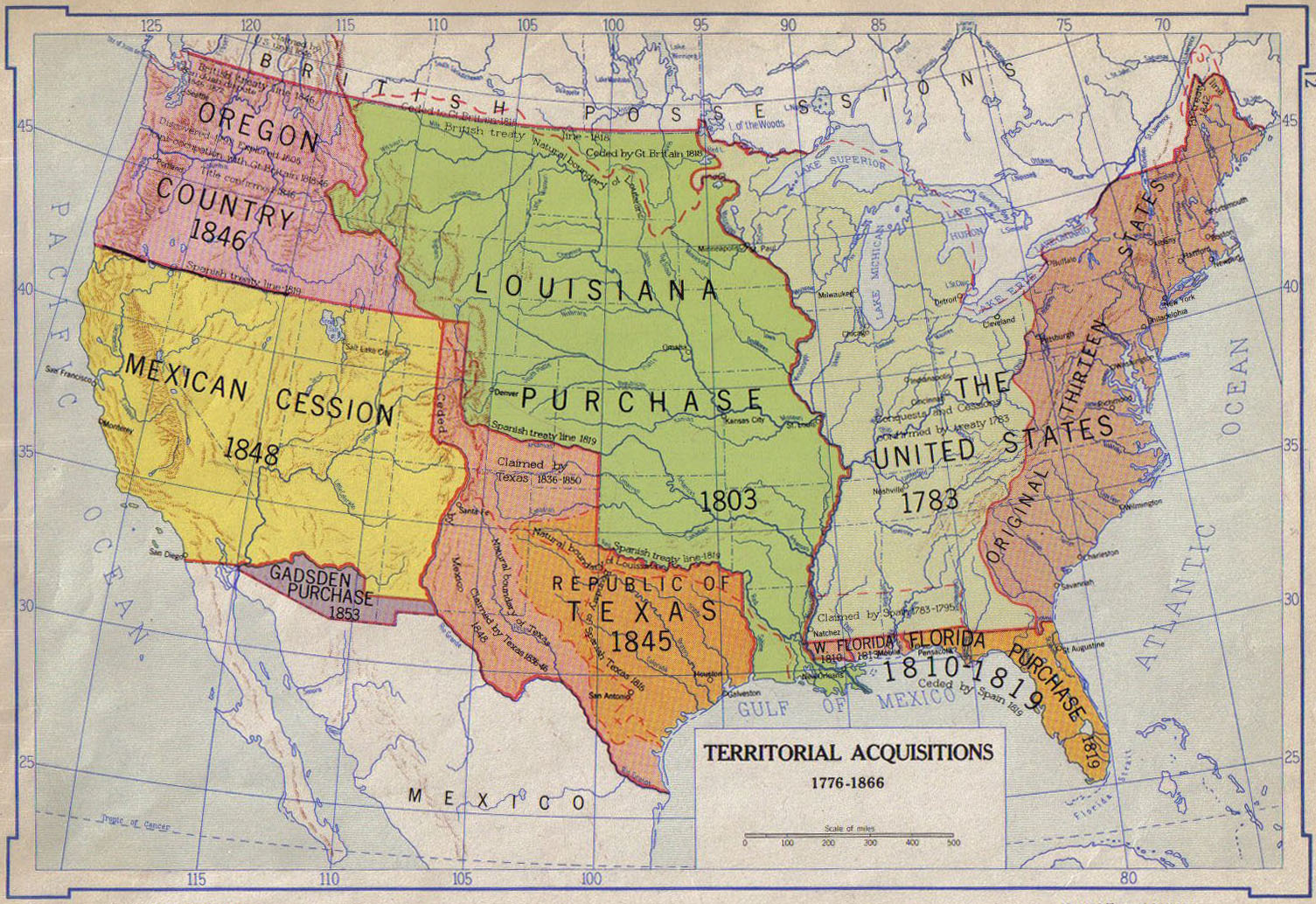 US Territorial Growth  US Westward Expansion Through Maps - Map of the us in 1853