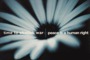 Time to abolish war peace is a human right