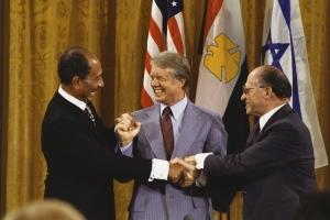 Carter, Sadat and Begin After Camp David Accords